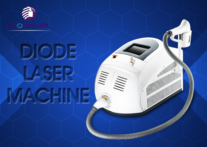 Portable 808nm Diode Laser Hair Removal Machine 13*13 / 13*39mm Spot Size