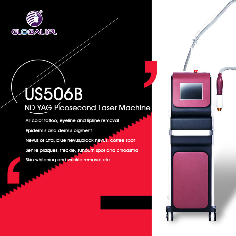 Multifunctional Home ND YAG Laser Tattoo Removal Machine 6 - 12ns Width Of Pulse