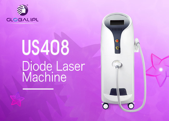 Professional Vertical 755 / 808 / 1064nm Diode Laser Hair Removal Machine 10 Million Lifetime