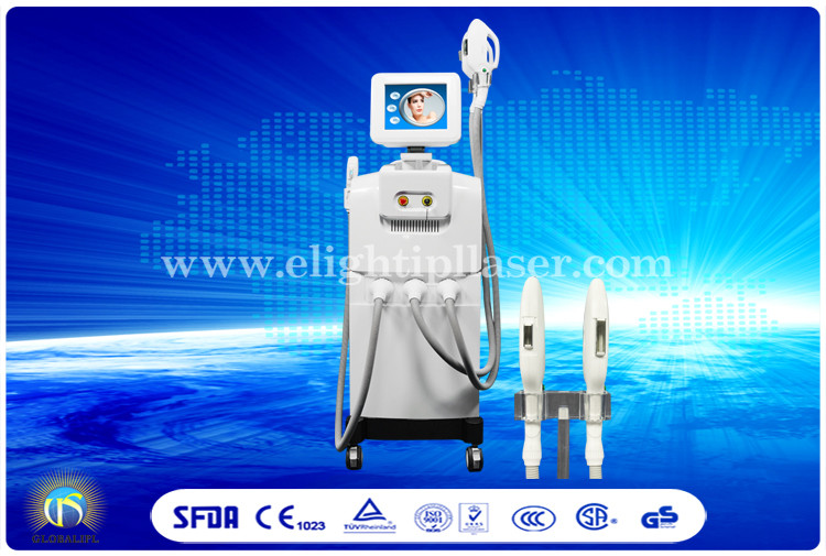 Big Spot IPL Hair Removal Machine Powerful 2 Handlepieces SHR SSR Beauty Equipment